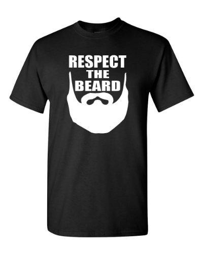 Respect The Beard Adult T-Shirt Tee