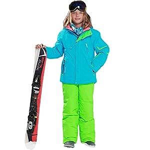 LSERVER Jungen und Mädchen Skianzug 2 teilig Skijacke + Skihose