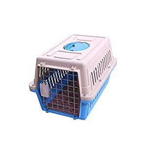 PET Air Box Kleine und mittlere Hunde aus der ReisecoBox: Hundetransport-Plastik-Versandbox Tragbare Transportmittel,Blue,L