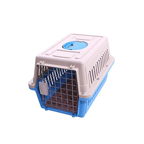PET Air Box Kleine und mittlere Hunde aus der ReisecoBox: Hundetransport-Plastik-Versandbox Tragbare Transportmittel,Blue,M