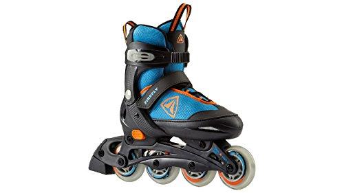 Firefly Kinder Inline Skate FF Comp ADJ Beginner Inlineskates, Blue/Lime/Black, 33