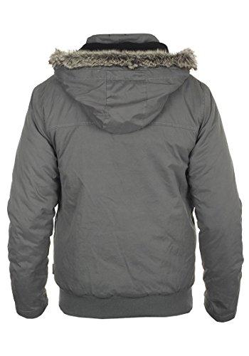 INDICODE Ice Herren Winterjacke Kapuzenjacke Fellkapuze Iron (920)