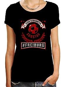 Freiburg #1 Premium T-Shirt | Fussball | Fan-Trikot | #jeden-verdammten-Samstag | Frauen | Shirt © Shirt Happenz