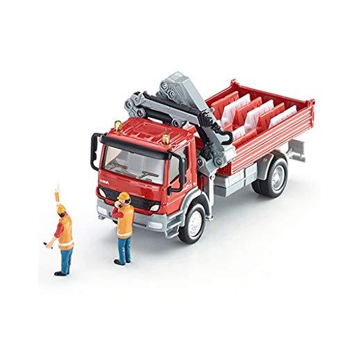 Miniatur-50 Licht-set (GLJJQMY Automodell 1:50 Mercedes-Benz Atego und Kranautosimulationslegierungs-Automodell)