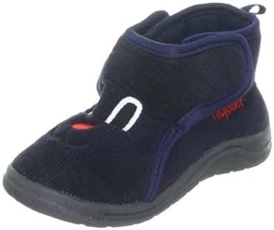 Playshoes Hausschuh Klettverschluß 204702, Pantofole unisex bambino, Blu (blau (marine11)), 26/27