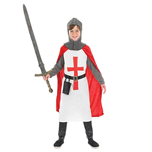 Königreich Krieger Kostüm - Fun Shack FNK2988S Kostüm, Boys, Crusader Knight, Größe S