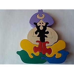Holz Puzzlespiel türkisches pasha handgemachtes historisches pasha Spielzeuggeschenk für Kinderbuchenholzspielzeug