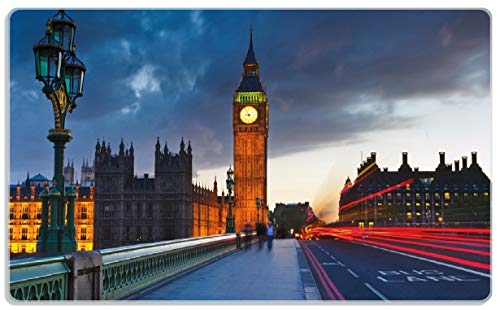 Wallario Stilvolles Frühstücksbrettchen aus Glas, London- Big Ben bei Nacht, Größe 14 x 23 cm, aus Sicherheitsglas (Big Ben Schneiden)