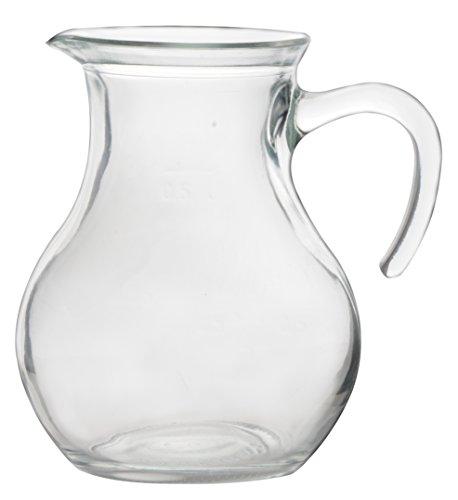 Bormioli Rocco Weinkaraffe Glas Karaffe Glaskrug Weinkrug Saftkrug Krug geeicht Griff Henkel 0,5...