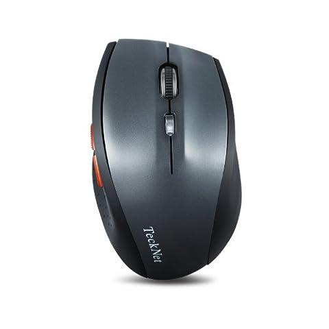 TeckNet Alpha 3000 DPI Bluetooth Maus Kabellose Maus Wireless Bluetooth Mouse mit Batterieanzeige für PC Mac, 5 Verstellbare DPI Level