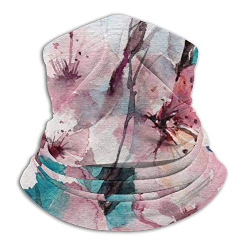 LiGHT-S Multifunktions-Halsgamaschen, Aquarell-Blumen-rosa und blaue Ski-Abdeckungs-Gesichtsmaske, für Frau