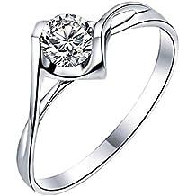 Hosaire Anillo de plata de El corazón del ángel anillos nuevo estilo para mujeres de la joyería accesorios
