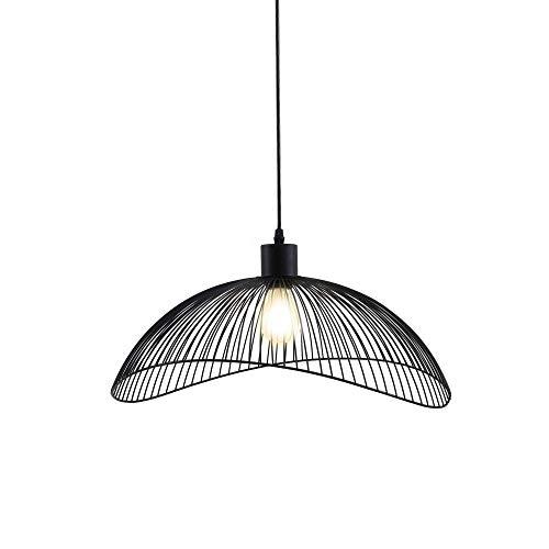 Briloner Leuchten Pendelleuchte Schwarz, Deckenlampe Retro, Deckenleuchte Metall, E27 Ø50,2