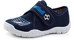 Idea Regalo - Ladeheid Pantofole Bambini LARW005 (Grigio/Bianco/Calcio, 34)