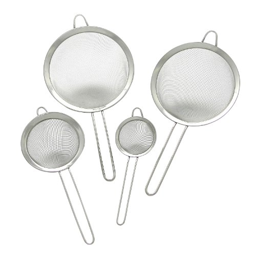 GRÄWE® Siebset Küchensiebe 8, 12,18 und 20 cm mit Rand