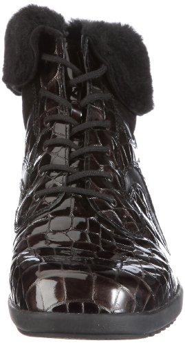 Waldläufer Hissa 525005 Ama399 784, Stivaletti donna Marrone (Braun/torf schwarz schwarz)