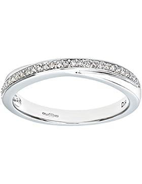 Naava Damen-Ring 9 Karat (375) Weißgold Saphir Diamanten PR06994SAM-p