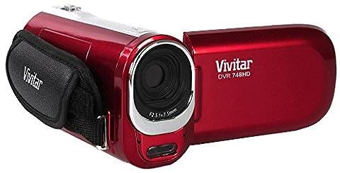 Vivitar DVR748HD 12.1MP Videorekorder mit 4fachem Digitalzoom (Rot)