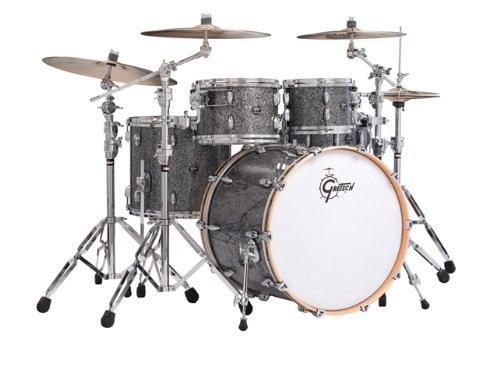 Gretsch New Renown Maple 4er Set Euro Drum Set Shell Pack - Blue Metal Trommel-Set -inch Blue Metal