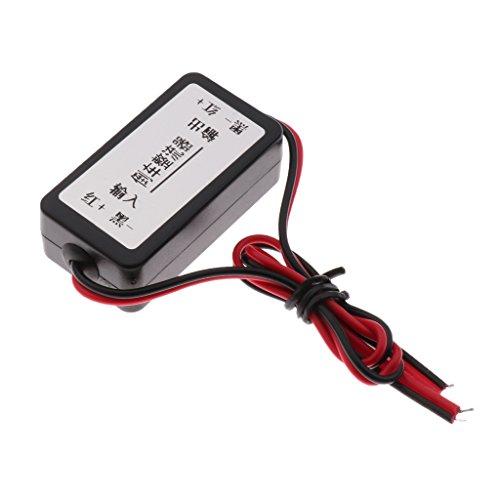 H HILABEE 12V DC Power Leistungsrelais Entstörkondensator Gleichrichter für Rückfahrkamera Auto Bildschirm, passend für die meisten Autos
