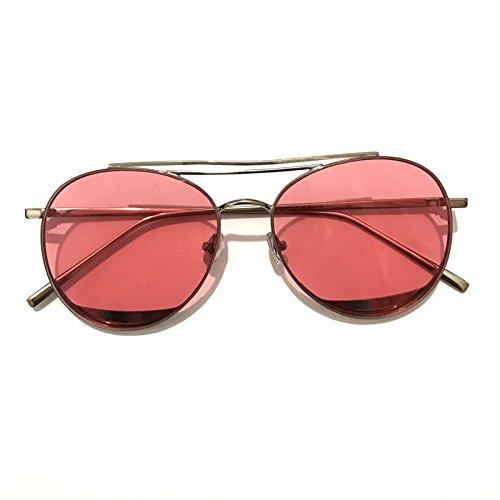 Sunyan Blaue Meer legende Sonnenbrille tide Persönlichkeit transparent frame Sonnenbrillen Sonnenbrillen weiblichen Tide, Transparent Puder