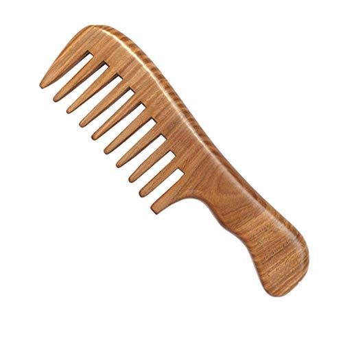 ZHANGHEHE Handmade Sandelholz Haarkamm Kopfmassage Weitzahn Kamm Haarstyling-Tool