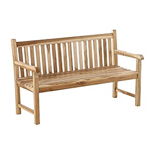 SAM 3-Sitzer Gartenbank Caracas Holzbank 150 cm, Sitzbank für Garten & Balkon, Teak-Holz massiv