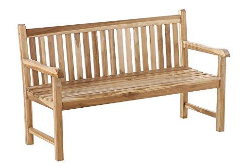SAM Teak-Holz, 3 Sitzer Gartenbank Caracas, Sitzbank, 150 cm, massive Holzbank, ideal für den Balkon oder Garten [521607]