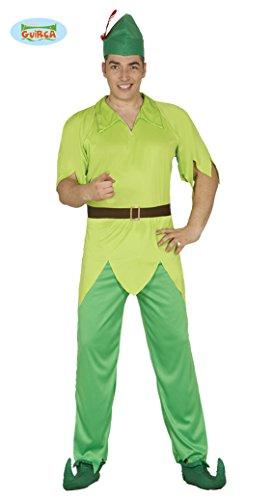 Bogenschütze Kostüm für Herren Robin Held Grün Pfeil Hood Jäger Herrenkostüm Gr. M - L, Größe:L