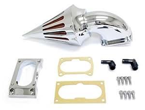 Chrome billettes d'aluminium transitoire de cône Air Filter Kit Cleaner Fit For Kawasaki Vulcan 2000 / VN2000 Classic / VN2000 LT Cruiser