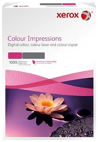 Xerox 003R97671 Rame de 125 feuilles de papier pour impressions couleur A3, 250 g/m², compatible avec imprimante laser couleur et jet d'encre (Blanc) (Import Allemagne)