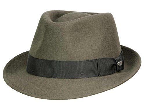 Wollfilz Hut Erwachsene Für (Mayser Troy Trilby Hut aus Wollfilz - stone)