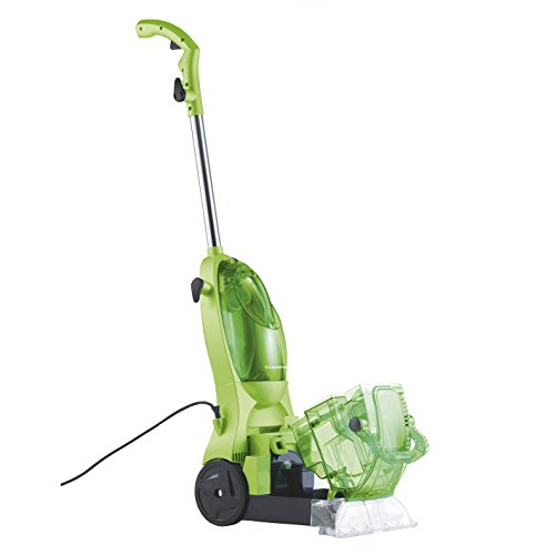 CLEANmaxx 07586 Carpet Cleaner | Short Drying Phase, vacuum function, removes dirt and lends new freshness | 500 watts |lime green