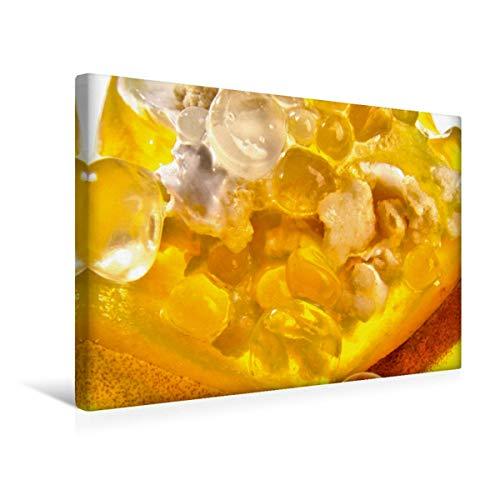 Pfirsich-schaum (Calvendo Premium Textil-Leinwand 45 cm x 30 cm quer Molekulare Pfirsichliköperlen | Wandbild, Bild auf Keilrahmen, Fertigbild auf echter Leinwand. auf EIS Lifestyle Lifestyle)
