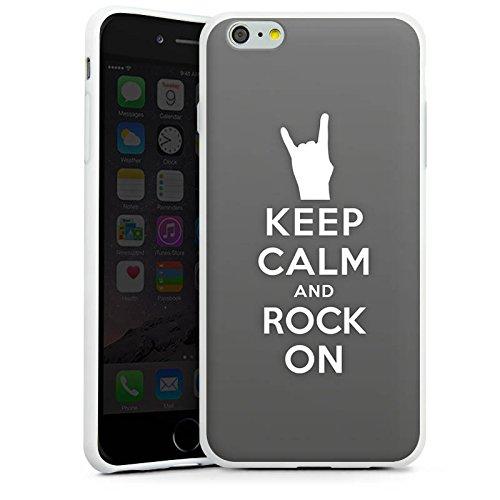 Apple iPhone X Silikon Hülle Case Schutzhülle Keep Calm Festival Rock Silikon Case weiß
