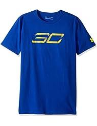 Under Armour - T-shirt Stephen Curry Under Armour SC30 Logo Bleu pour enfant