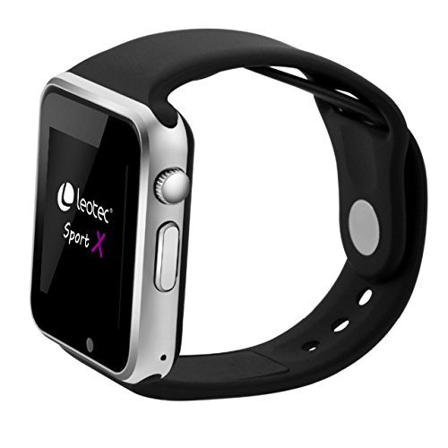 Leotec Sport X -  Smartwatch con GPS, Android, Sim 3G, Camara Incorporada, Monitor de Actividad, Compatible Android y Notificaciones Inteligentes, Negro