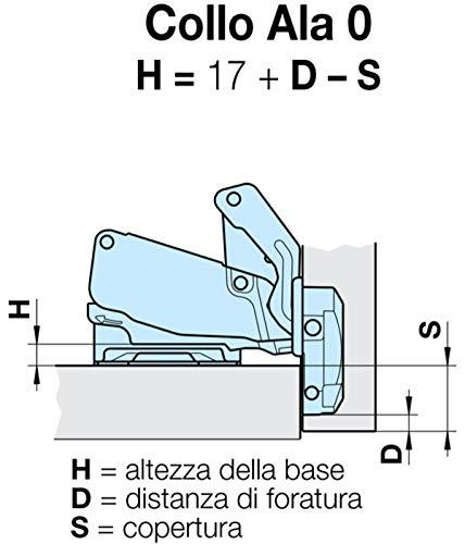 Cerniere Per Ante Cucina Ferrari.Da 3 Pz Cerniera Ferrari Slide On Da 35 Mm Apertura 165 170 Con