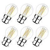 LVWIT 4W Ampoule LED Filament à Bayonnate G45 B22, 2700K Blanc Chaud, 470Lm, Ampoule...