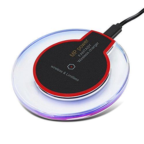 MP power @ Rosso Caricabatterie Wireless QI Senza Fili compatibili con Smartphone Samsung S7 S7 Edge S6 S6 Edge LG Nexus 5 Nokia 1520 e tutti gli altri dispositivi compatibili con la tecnologia di ricarica Wireless QI