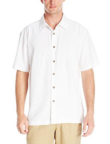 Quiksilver Tahiti Palms Woven Shirt pour hommes white