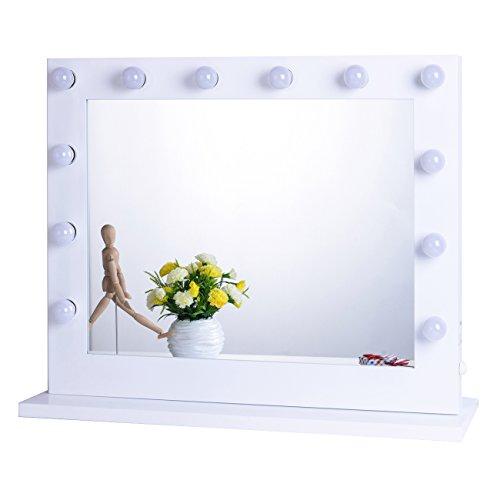 Chende Schwarz Hollywood Schminkspiegel mit Beleuchtung Bühne Kosmetikspiegel, Schönheit Theaterspiegel, LED beleuchtet schminktisch spiegel, Mauer Montiert Spiegel, Freie Glühbirnen