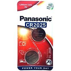 Panasonic Lithium CR2025 2 Piles