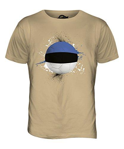 CandyMix Estland Fußball Herren T Shirt Sand