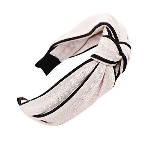 YWLINK Mode Haar Knoten Haarband Frauen Kopfband Süß MäDchen Klassisch Breit Waschen Haarband (A Rosa, Einheitsgröße)