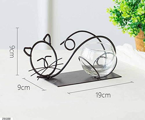 Li-lamp Beau Chandelier Creative Rétro Chandelier Romantique en Fer Forgé Chat Porte-Bougie Décoration Dîner Aux Chandelles