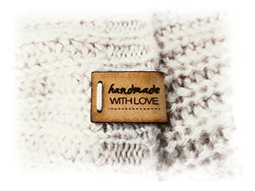 Handgefertigte Lederetiketten E | 15 Stück | Exklusive gravierte echte italienische Leder-Tags | Handmade leather labels tags