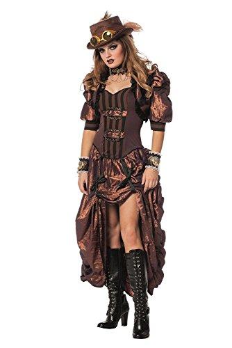 Damen Kostüm Steampunk Western Saloon Girl Karneval Fasching Gr.48