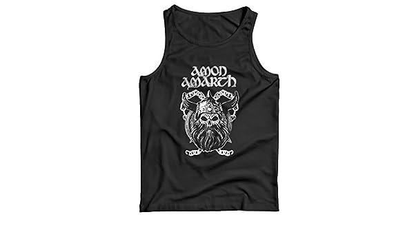 LaMAGLIERIA Tank Top Herren Amon Amarth Viking Skull 100/% Baumwolle