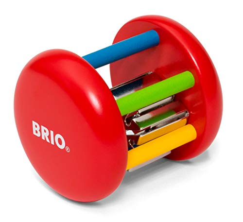 BRIO 30051 Bunte Klingelrassel, Mehrfarbig